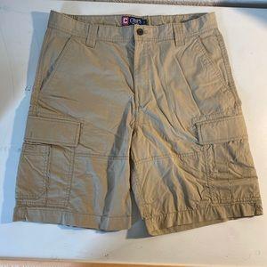 Chaps Men's 36 Beige Casual Cargo Khaki Shorts.